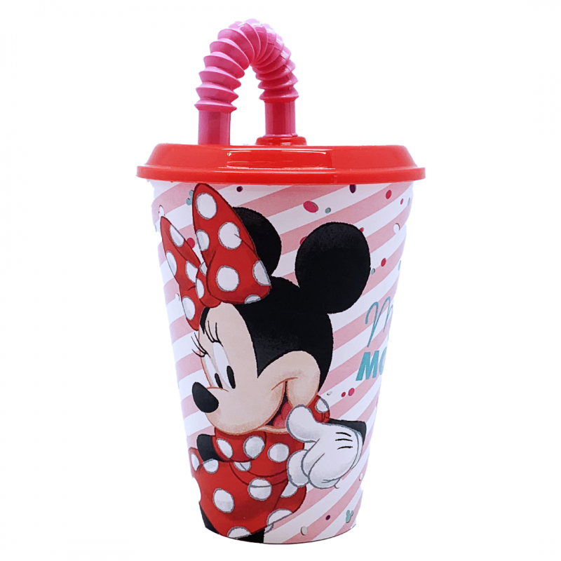 Joogitass koos kõrrega Minnie 430ml