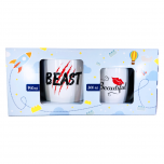 Joogikruusid Beast/Beautiful 750ml/300ml